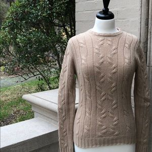 ⭐️🆕[Neiman Marcus]💯%Cashmere Cable knit Sweater